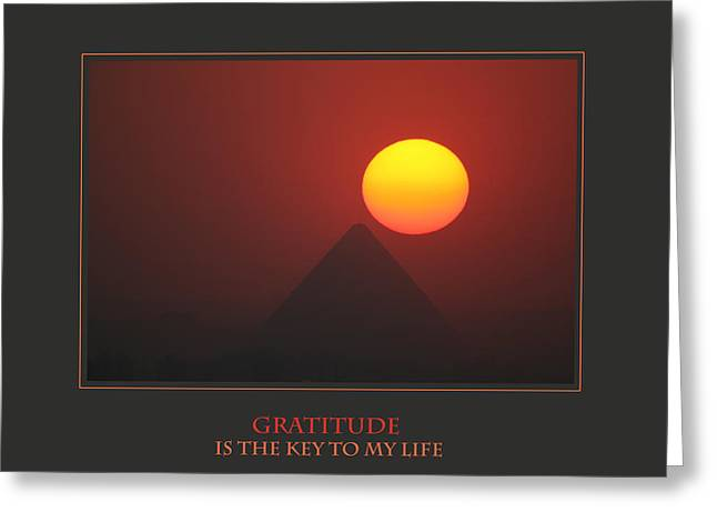 Personal-development Greeting Cards - Gratitude Is The Key To My Life Greeting Card by Donna Corless