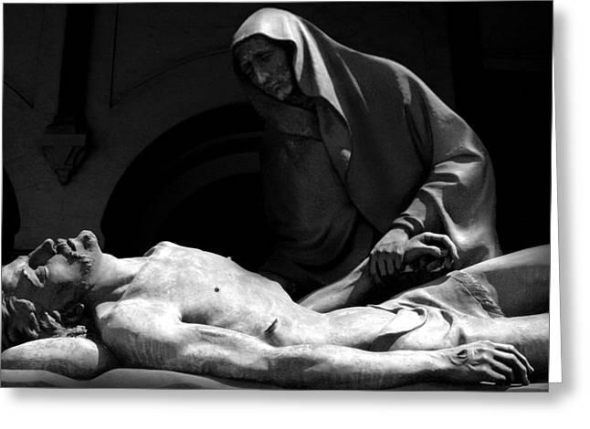 Marc Huebner Greeting Cards - Grave of Jesus Greeting Card by Marc Huebner