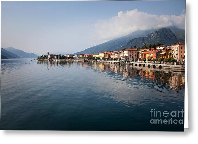 Town Square Greeting Cards - Gravedona, Lake Como Greeting Card by Marco Scisetti