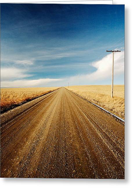 Gravel Lines Greeting Card by Todd Klassy