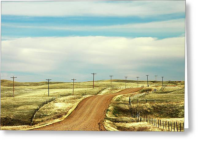 Gravel Road Greeting Card by Todd Klassy