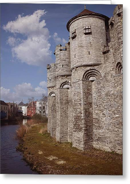 Royal Art Greeting Cards - Gravensteen Ghent Greeting Card by Carol Japp