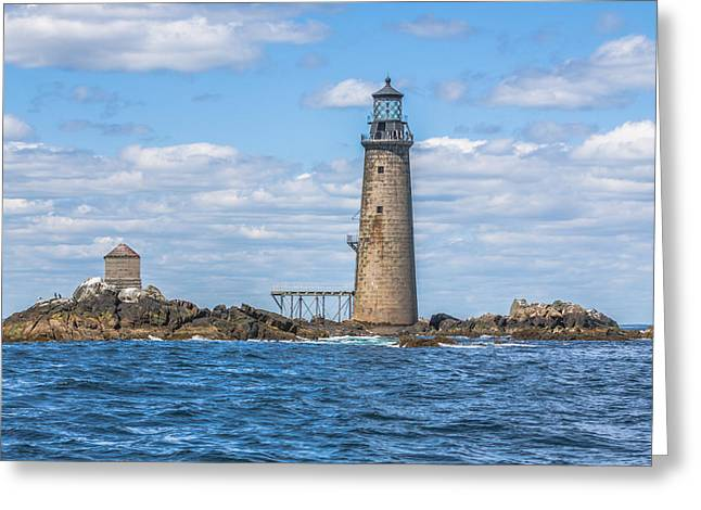 Boston Ma Greeting Cards - Graves Lightouse Greeting Card by Brian MacLean
