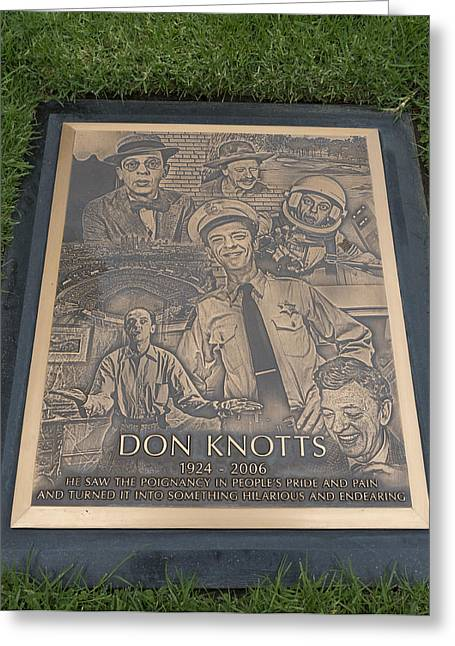 Andy Griffith Show Greeting Cards - Gravesite Of Don Knotts - Westwood Cemetery Greeting Card by Mountain Dreams