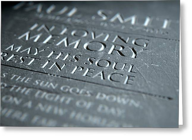 Gravestone In Loving Memory Greeting Card by Allan Swart