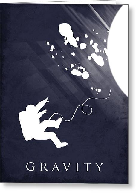 Vertical Greeting Cards - Gravity movie poster Greeting Card by Mihaela Pater