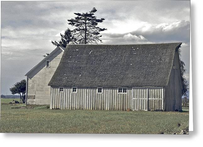 Barn Digital Art Greeting Cards - Gray barn of Skagit County Greeting Card by Craig Perry-Ollila