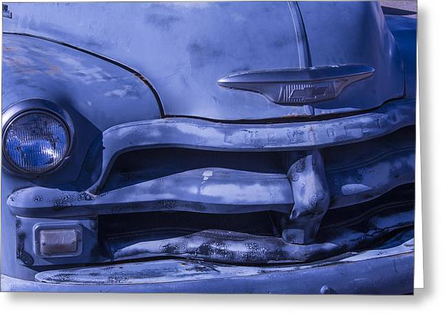 Forgotten Cars Greeting Cards - Gray Chevrolet Greeting Card by Garry Gay