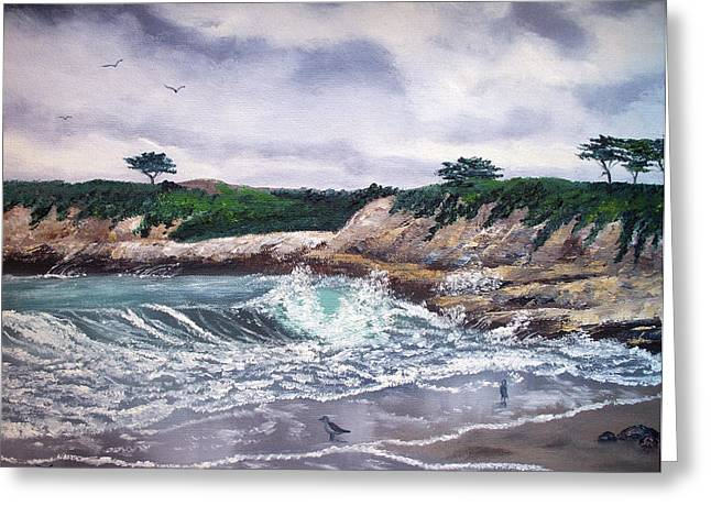 Gray Morning At Santa Cruz Greeting Card by Laura Iverson