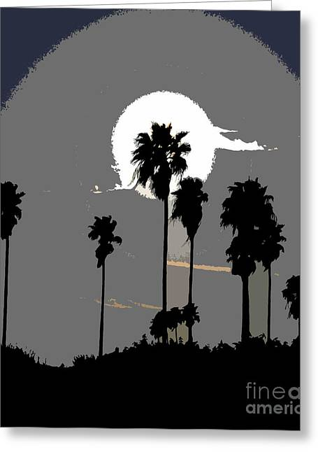 Palm Tree Greeting Cards Greeting Cards - Gray palms Greeting Card by David Lee Thompson