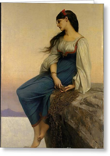 Person Greeting Cards - Graziella Greeting Card by Jules-Joseph Lefebvre