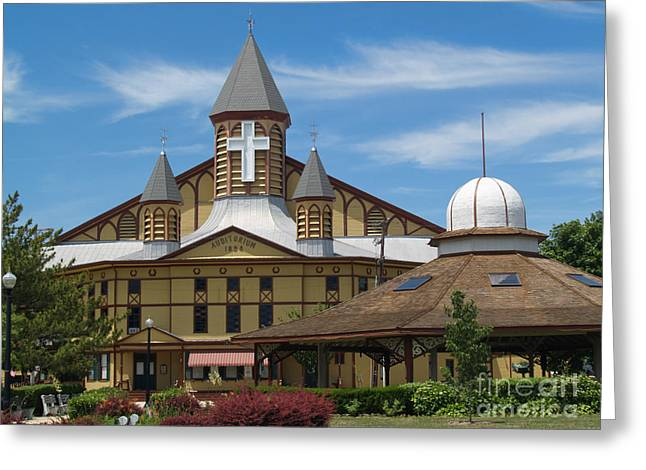 Ocean Grove Greeting Cards - Great Auditorium of Ocean Grove New Jersey Greeting Card by Anna Lisa Yoder