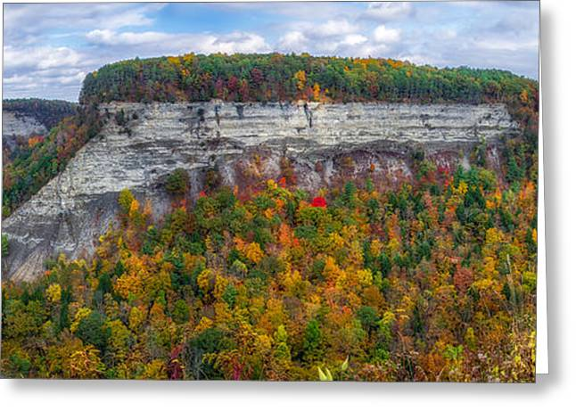 Mountain Valley Greeting Cards - Great Bend Overlook Greeting Card by Mark Papke
