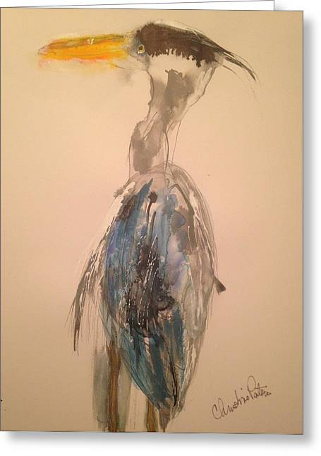 Great Blue Greeting Card by Christina Pateros