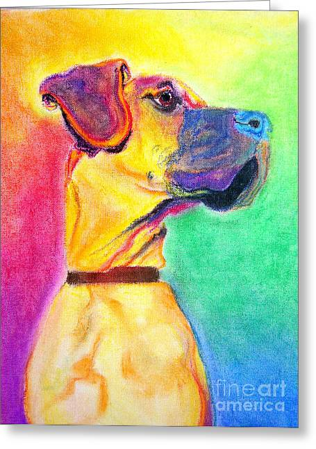 Great Dane - Rapture Greeting Card by Alicia VanNoy Call