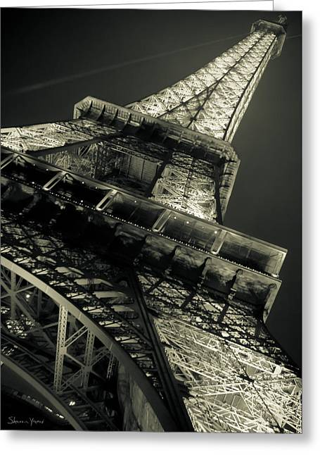 Festivities Greeting Cards - Great Eiffel Tower Greeting Card by Sharon Yanai