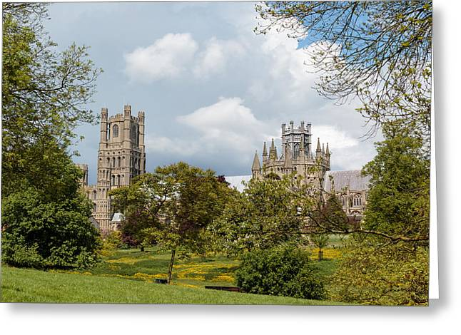 Wooden Ship Greeting Cards - Great English cathedral Greeting Card by Katey jane Andrews