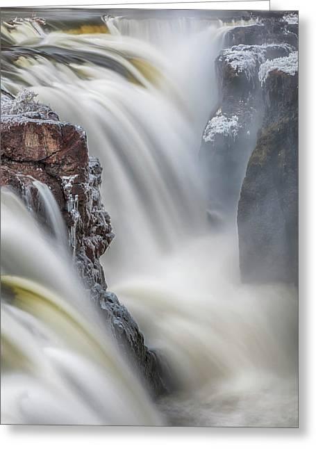 Great Falls Of The Passaic River Greeting Card by Rick Berk