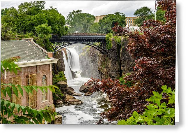 Power Plants Greeting Cards - Great Falls of the Passaic River  Greeting Card by Saurav Pandey