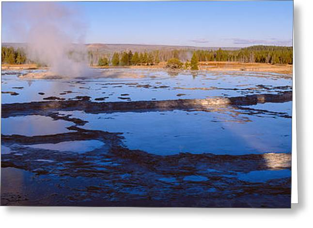 Great Fountain Geyser, Yellowstone Greeting Card by Panoramic Images
