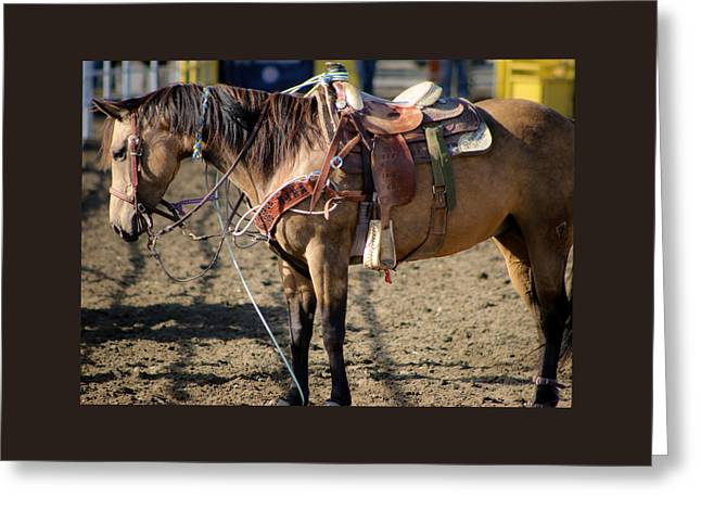The Horse Greeting Cards - Great Help Greeting Card by Lornna Nunez