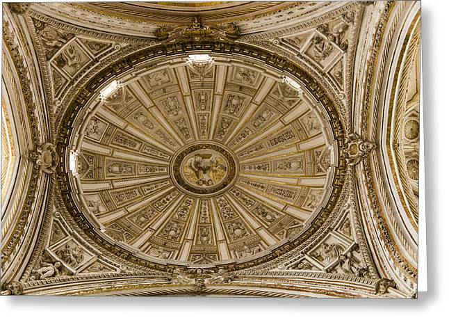 Great Mosque Greeting Cards - Great Mosque Ceiling - Cordoba Spain Greeting Card by Jon Berghoff