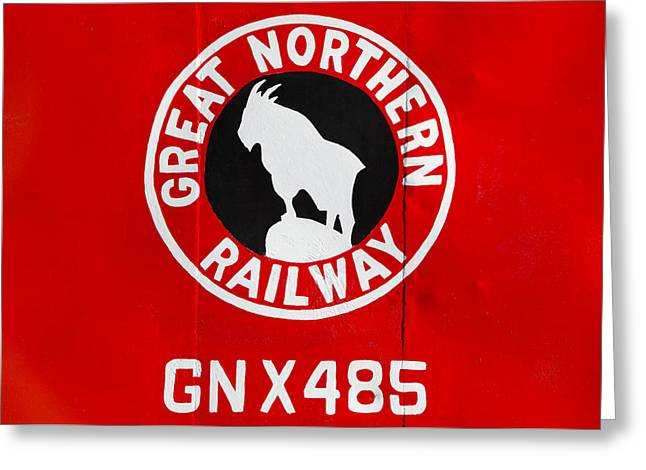 Great Northern Caboose Greeting Card by Todd Klassy