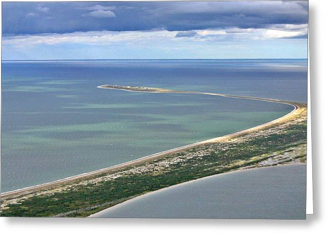 Custom Aerial Greeting Cards - Great Point Nantucket Greeting Card by Duncan Pearson