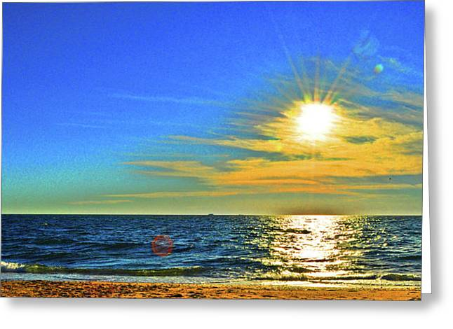 Nantucket Sound Greeting Cards - Great Point Nantucket Sound Large Format Greeting Card by Duncan Pearson