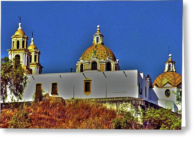 Ciel Greeting Cards - Great Pyramid of Cholula Greeting Card by Juergen Weiss