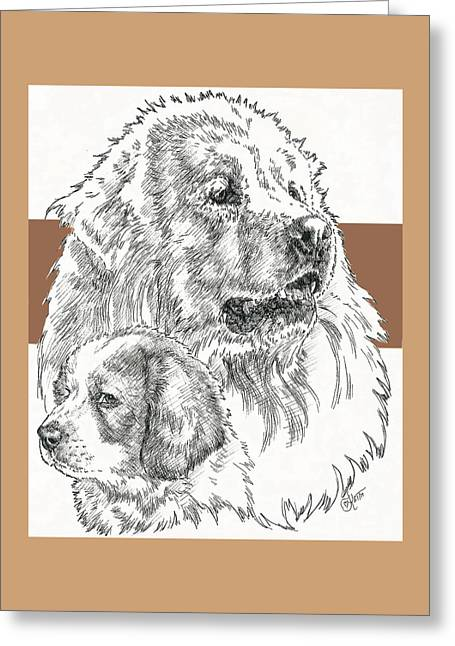 Working Dog Greeting Cards - Great Pyrenees Father and Son Greeting Card by Barbara Keith