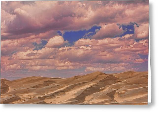 """commercial Photography Art Prints"" Greeting Cards - Great Sand Dunes and Great Clouds Greeting Card by James BO  Insogna"
