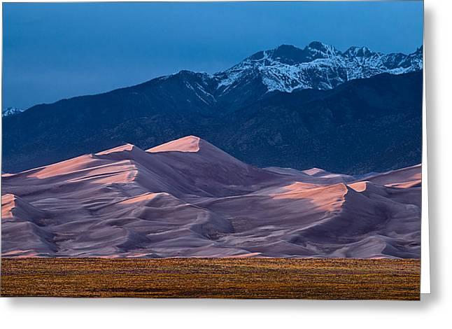 Great Sand Dunes  Colorado Greeting Card by Steve Gadomski