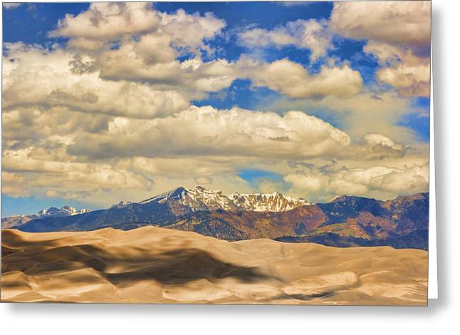 Colorado Sand Dunes Greeting Cards - Great Sand Dunes National Monument Greeting Card by James BO  Insogna
