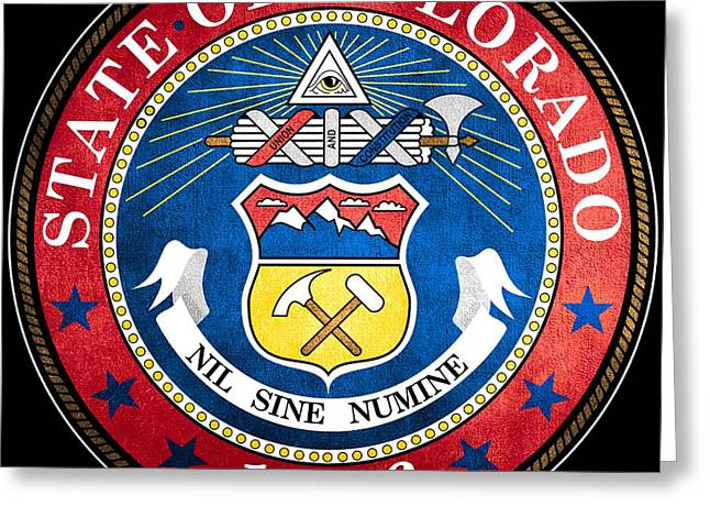 Great Seal Of The State Of Colorado Greeting Card by Mountain Dreams