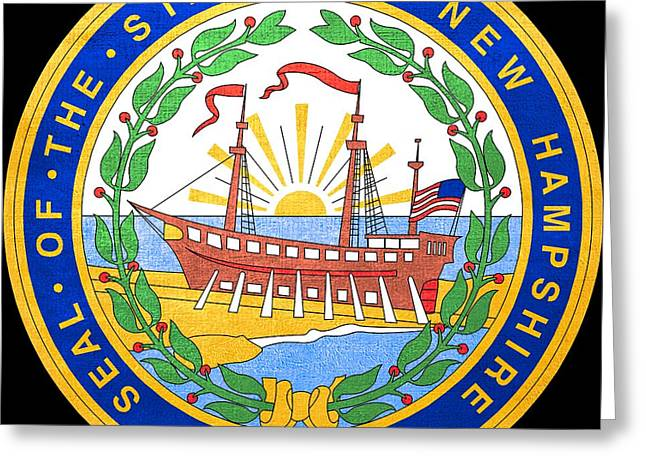 Great Seal Of The State Of New Hampshire Greeting Card by Mountain Dreams
