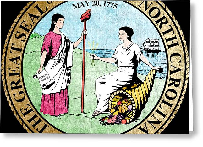 Great Seal Of The State Of North Carolina Greeting Card by Mountain Dreams