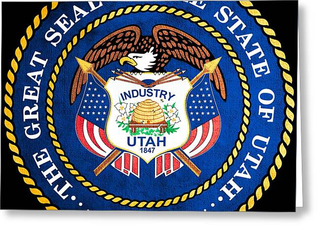 Great Seal Of The State Of Utah Greeting Card by Mountain Dreams