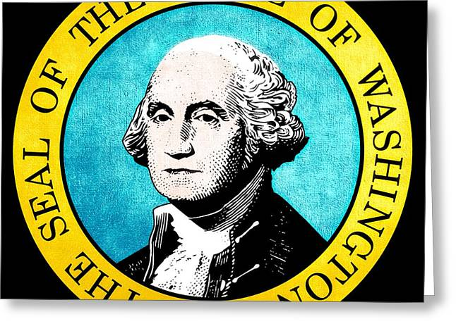 Great Seal Of The State Of Washington Greeting Card by D Benbenn