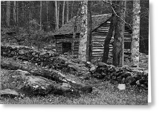 Mountain Cabin Greeting Cards - Great Smoky Mountains National Park Greeting Card by Brian M Lumley