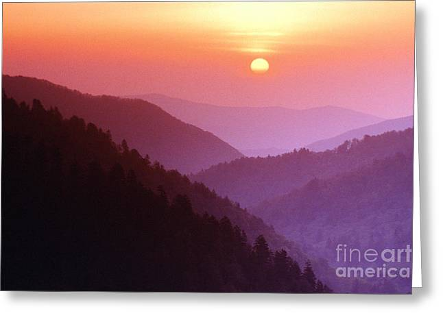 Great Smokey Mountains Greeting Cards - Great Smoky Mountains National Park, Tn Greeting Card by Michael P. Gadomski
