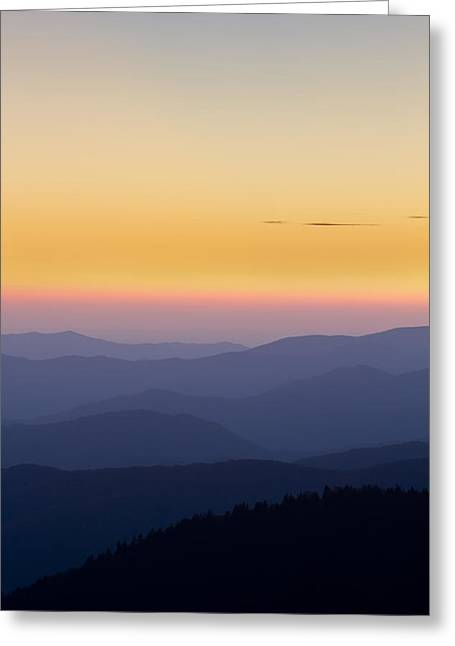 Clingmans Dome Greeting Cards - Great Smoky Mountains Sunset from Climgmans Dome Greeting Card by Pierre Leclerc Photography