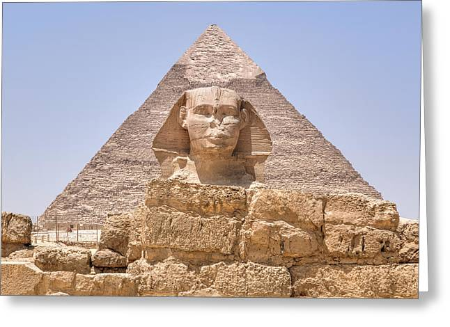 Great Sphinx Of Giza - Egypt Greeting Card by Joana Kruse