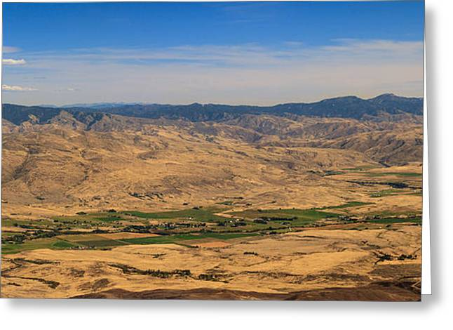 Haybale Greeting Cards - Great View Greeting Card by Robert Bales