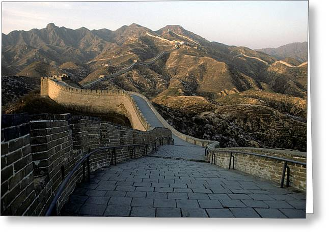Great Wall Greeting Cards - Great Wall of China Greeting Card by Steve Williams