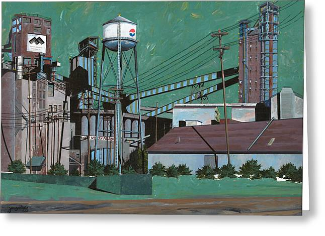 Great Paintings Greeting Cards - Great Western Malting Greeting Card by John Wyckoff