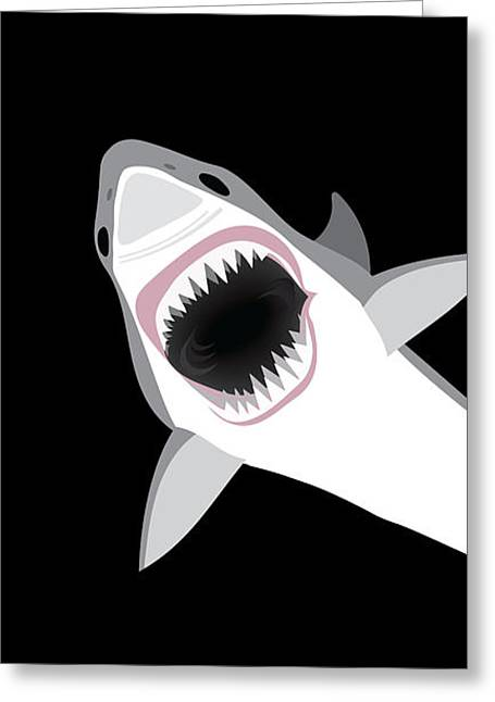 Great White Shark Greeting Card by Antique Images