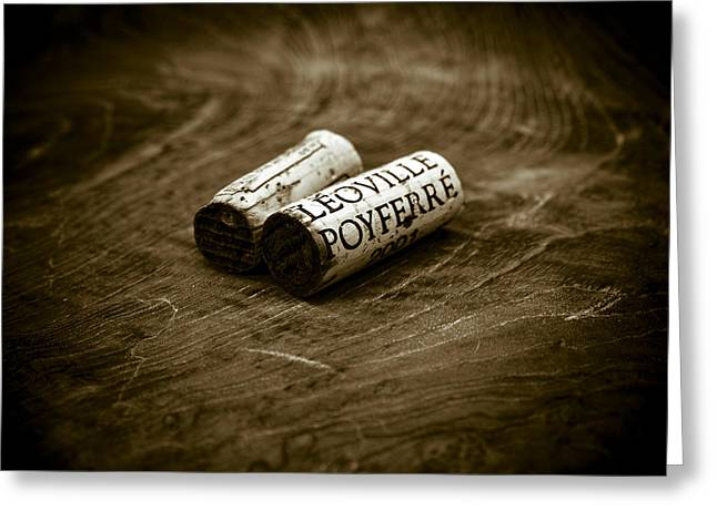 Great Wines Of Bordeaux - Chateau Leoville Poyferre Greeting Card by Frank Tschakert