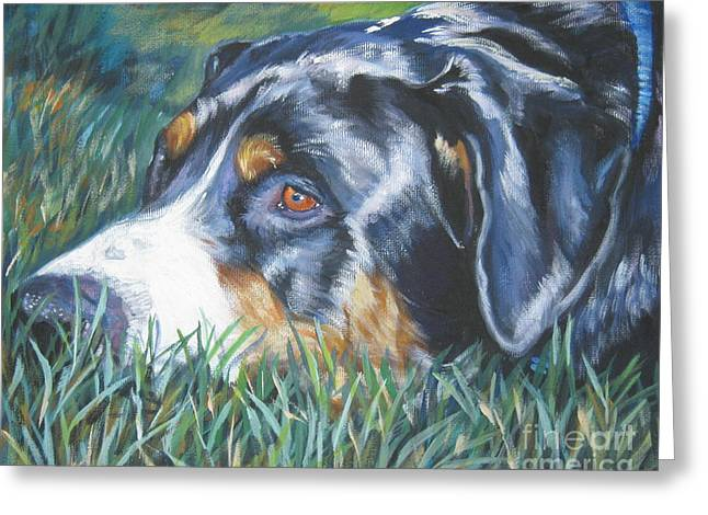 Swiss Paintings Greeting Cards - Greater Swiss Mountain Dog Greeting Card by Lee Ann Shepard