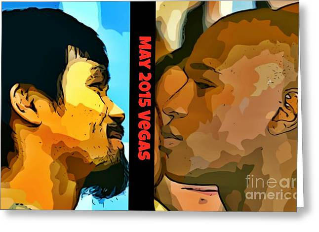 Boxer Digital Art Greeting Cards - Greatest Boxers Greeting Card by John Malone
